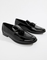 Truffle Collection Patent Tassel Loafer in Black Patent