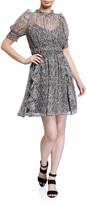 Shoshanna Perla Floral-Print Chiffon Dress