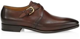 Paul Stuart Galante Crisscross Double Monk Strap Leather Shoes