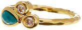Melinda Maria Monica Turquoise & CZ Cluster Ring - Size 7