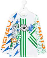 Kenzo geometric and logo print T-shirt