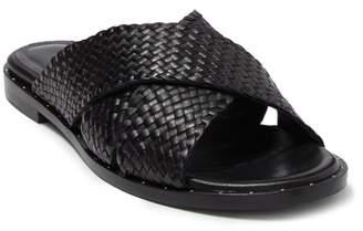 Freda Salvador Dew Leather Basketweave Slide
