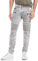 american stitch Patchwork Moto Slim Fit Jeans