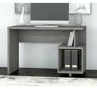 "Kathy Ireland Madison Avenue Desk Home by Bush Furniture Color: Modern Gray, Size: 29.92"" H x 47.52"" W x 23.54"" D"