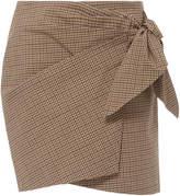Etoile Isabel Marant Ninon Gingham Wrap Mini Skirt