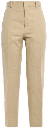 Marni Cropped Linen And Cotton-blend Straight-leg Pants