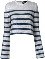 Filles a papa sequin striped top - women - Spandex/Elastane/Viscose - 0