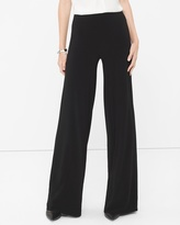 White House Black Market Knit Wide-Leg Pants