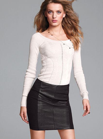 Victoria's Secret Pointelle Boatneck Sweater