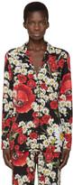 Dolce & Gabbana Red and Black Floral Pyjama Shirt