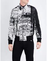 Alexander McQueen Map-print wool-blend bomber jacket