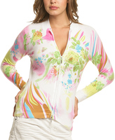 Le Mieux Pink & Green Abstract Floral Zip-Up Jacket