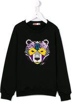 MSGM embroidered bear sweatshirt - kids - Cotton - 6 yrs