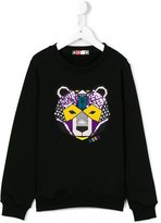 MSGM embroidered bear sweatshirt