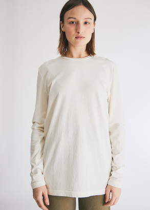 Need Women's Long Sleeve Dye T-Shirt in Ivory, Size Extra Small | 100% Cotton