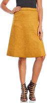 Lucy Paris Farah Faux Suede Midi Skirt