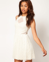 River Island Lace Cut Out Skater Dress