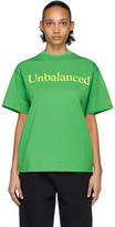 Aries Green New Balance Edition Unbalanced T-Shirt