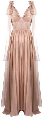 Maria Lucia Hohan Inna pleated silk gown