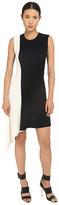 Neil Barrett Mixed Yarns Bicolour Asymmetrical Dress