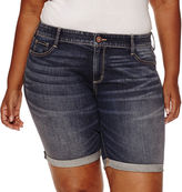 Arizona Denim Bermuda Shorts Juniors Plus