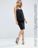 Asos Midi Skirt with Scallop Hem