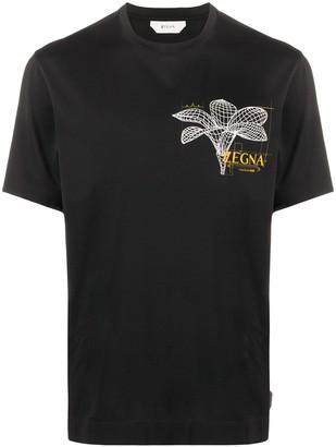 Ermenegildo Zegna floral logo cotton T-shirt