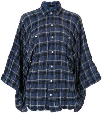 R 13 Plaid Draped Shirt