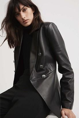Witchery Leather Blazer