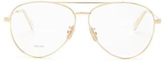 Celine Aviator Metal Glasses - Gold