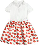 Au Jour Le Jour Apples Cotton Poplin & Duchesse Dress