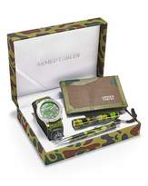 Fashion World Gents Khaki Armed Forces Watch Set