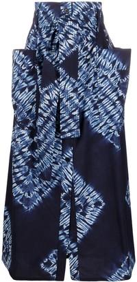 P.A.R.O.S.H. tie-dye pattern A-line skirt
