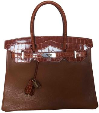 Hermes Birkin 30 Camel Crocodile Handbags