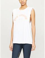 The Upside Frill logo-print cotton-jersey tank top