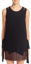Helmut Lang Women's Side Tie Knit Wool Tank