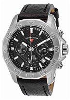 Swiss Legend Men's 'Islander' Quartz Stainless Steel and Leather Automatic Watch, Color:Black (Model: 16198SM-01)