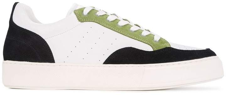 Cerruti panelled sneakers