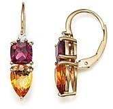 Bloomingdale's Citrine, Rhodolite Garnet and Diamond Earrings in 14K Yellow Gold - 100% Exclusive