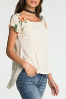 Miss Me Tropical Shoulder Blouse