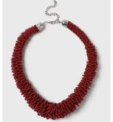 Dorothy Perkins Womens Red Beaded Necklace- Red