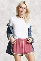 Forever 21 Contrast-Trim Dolphin Shorts