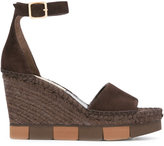Paloma Barceló espadrille wedges - women - Raffia/Leather/Suede/rubber - 35