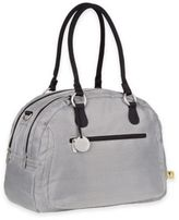 Lassig Gold Label Bowler Diaper Bag in Metallic Silver