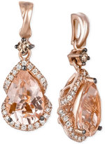 LeVian Le Vian Peach Morganite (2-3/8 ct. t.w.) and Diamond (1/3 ct. t.w.) Drop Earrings in 14k Rose Gold, Only at Macy's
