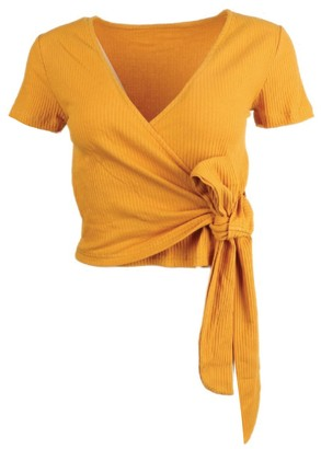 Goodnight Macaroon 'Hadeya' V-neck Wrap Top (6 Colors)