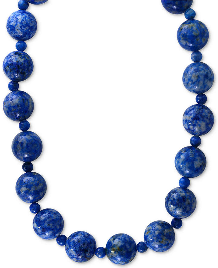 Effy Lapis Lazuli (4 & 12mm) Beaded Collar Necklace in 14k Gold