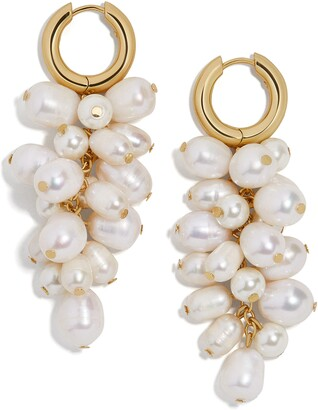 BaubleBar Freshwater Pearl & Imitation Pearl Cluster Drop Earrings