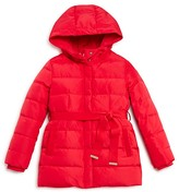 Armani Junior Girls' Hooded Puffer Coat - Sizes 4-16