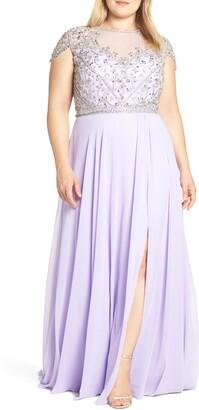 Mac Duggal Embellished Bodice Evening Dress